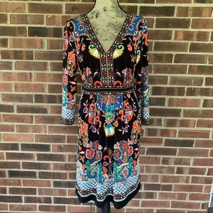 Like new ECI New York long sleeve floral dress